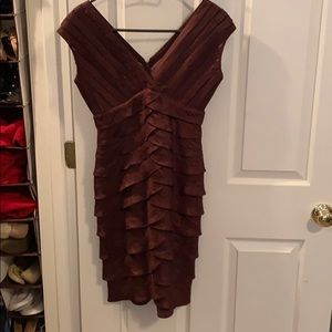 Adrianna Papell Bronze Cocktail Dress - Size 6P